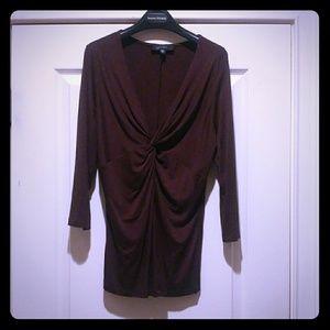 Gorgeous Karen Kane Chocolate Brown Top! XL